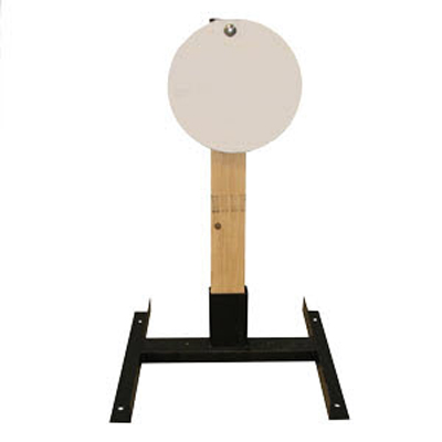 "LET 12"" Circle Wood Stand Static Steel Target"